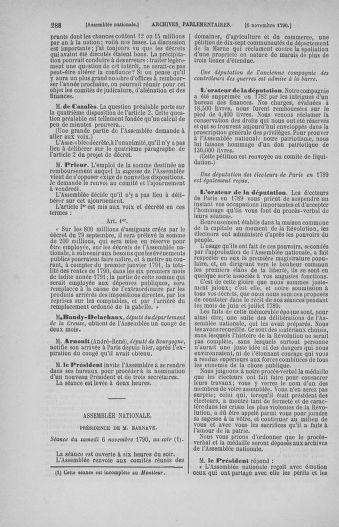 Tome 20 : Du 23 octobre au 26 novembre 1790 - page 288
