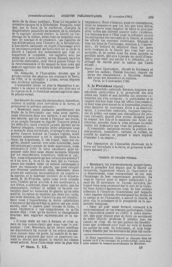 Tome 20 : Du 23 octobre au 26 novembre 1790 - page 289