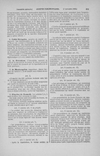 Tome 20 : Du 23 octobre au 26 novembre 1790 - page 311