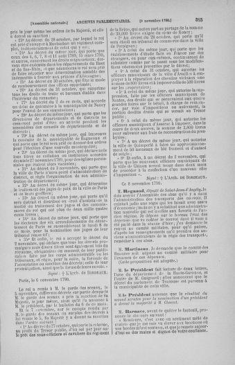 Tome 20 : Du 23 octobre au 26 novembre 1790 - page 315