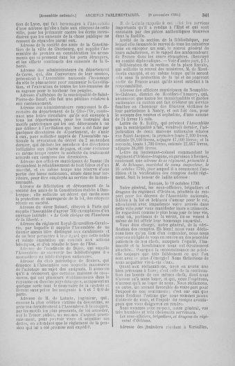Tome 20 : Du 23 octobre au 26 novembre 1790 - page 341