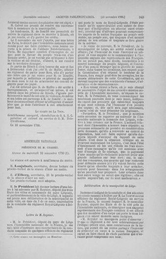 Tome 20 : Du 23 octobre au 26 novembre 1790 - page 349