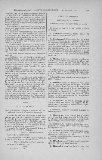 Tome 20 : Du 23 octobre au 26 novembre 1790 - page 369
