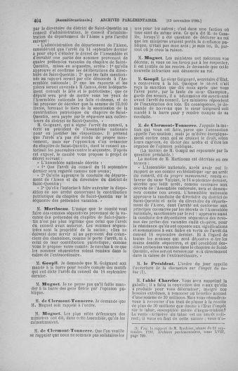 Tome 20 : Du 23 octobre au 26 novembre 1790 - page 404