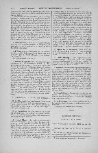 Tome 20 : Du 23 octobre au 26 novembre 1790 - page 414