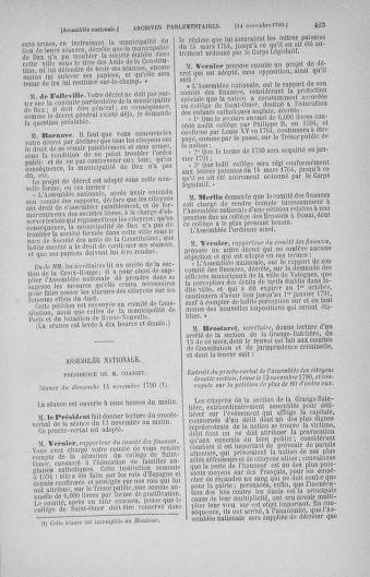Tome 20 : Du 23 octobre au 26 novembre 1790 - page 423