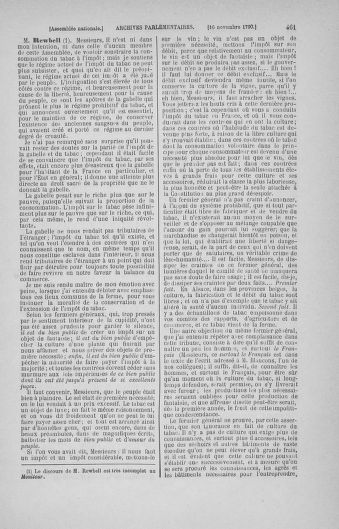 Tome 20 : Du 23 octobre au 26 novembre 1790 - page 461