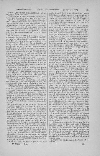 Tome 20 : Du 23 octobre au 26 novembre 1790 - page 481