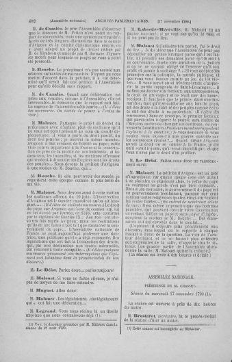 Tome 20 : Du 23 octobre au 26 novembre 1790 - page 482
