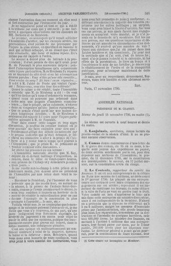 Tome 20 : Du 23 octobre au 26 novembre 1790 - page 511