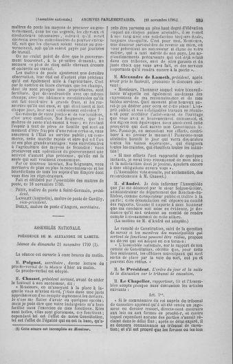 Tome 20 : Du 23 octobre au 26 novembre 1790 - page 589