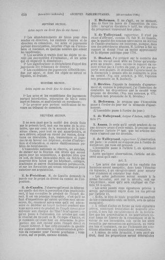 Tome 20 : Du 23 octobre au 26 novembre 1790 - page 650