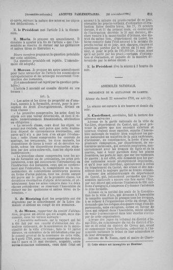 Tome 20 : Du 23 octobre au 26 novembre 1790 - page 651