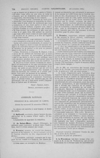 Tome 20 : Du 23 octobre au 26 novembre 1790 - page 724
