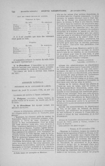 Tome 20 : Du 23 octobre au 26 novembre 1790 - page 740