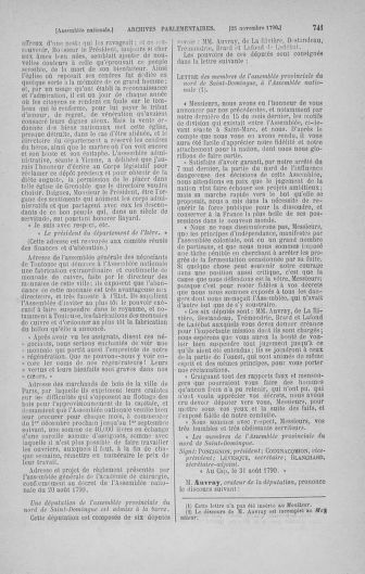 Tome 20 : Du 23 octobre au 26 novembre 1790 - page 741