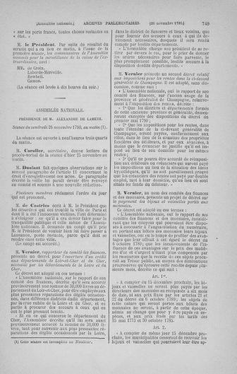Tome 20 : Du 23 octobre au 26 novembre 1790 - page 749