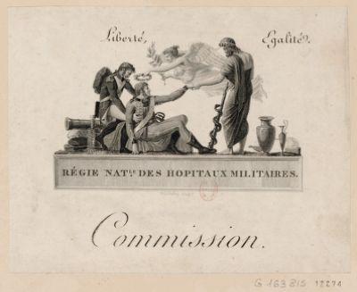 Régie nat.le des hopiteaux militaires liberté égalité : Commission : [estampe]