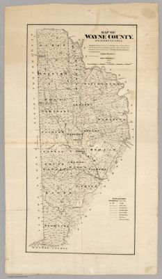 Map of wayne county pennsylvania shewing the situations forms a map of wayne pike counties pennsylvania shewing the situations 1814 sciox Choice Image