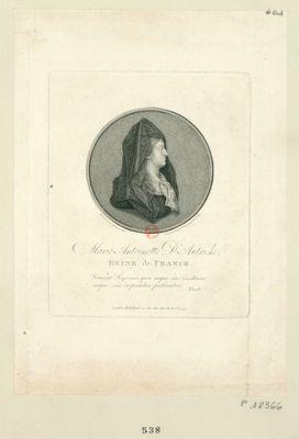 Marie Antoinette d'Autriche reine de France [estampe]