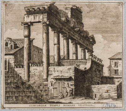 Tempio di Saturno, resti