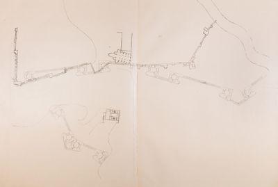 Mura urbane, pianta del settore Flaminio-Pinciano