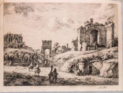 Tempio di Venere e Roma, con l'arco di Tito