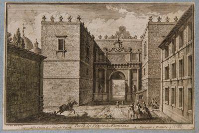 Porta Flaminia, veduta dall'esterno