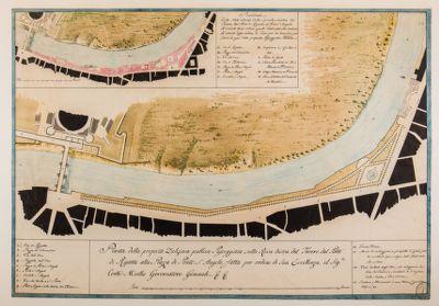 Passeggiata sulla riva destra del Tevere, pianta