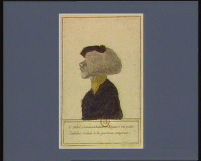 M. l'abbé commanditaire déguisé en petit cadédis reduit à la portion congrue [estampe]