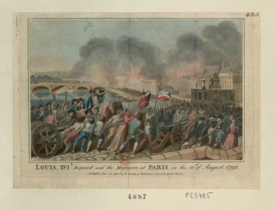 Louis, XVIth deposed, and the massacre, at Paris, on the 10th of August 1792 [estampe]