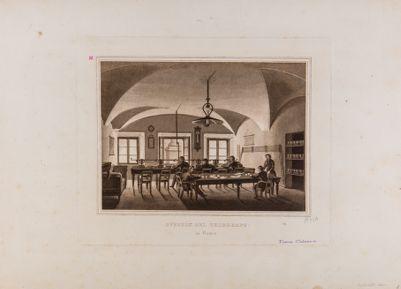 Piazza Colonna. Poste pontificie, ufficio del telegrafo