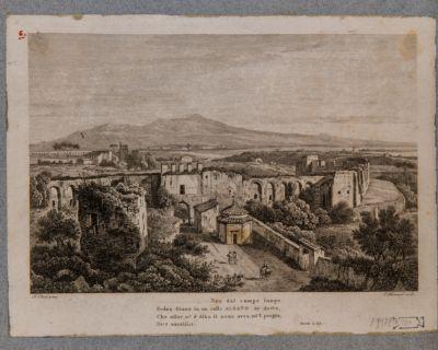 Mura Appio-Latine con vista di porta Latina