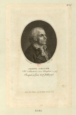 Joseph Chalier né à Beaulard, ci-devant Dauphiné en 1747, décapité à Lyon le 16 juillet 1793 : [estampe]