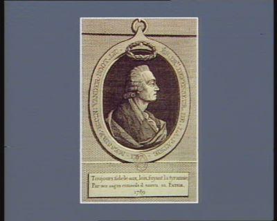 Messire H.C.N. Vander Noot lic. és. dr.ts defenseur de la patrie 1787 [estampe]