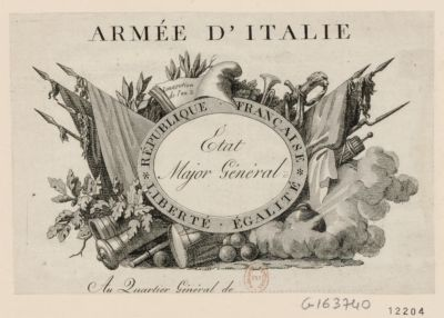 Armée d'Italie État major général : Republique française liberté égalité... : [estampe]