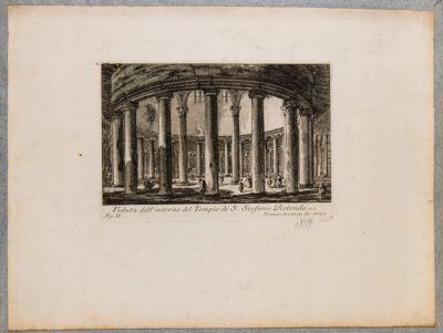 Veduta dell'interno del tempio di S. Stefano Rotondo