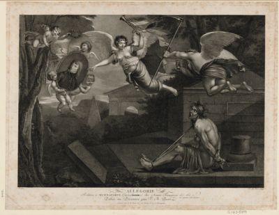 Allégorie relative à Buonaparte generalissime des armées françaises &c &c dans l'expédition contre l'Angleterre dediée au Directoire par V. M. Picot : [estampe]