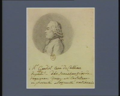 M. Gardiol, curé de Callian député de la sénéchaussée de Draguignan Grasse et Castellane en Provence à l'Assemblée nationale : [dessin]