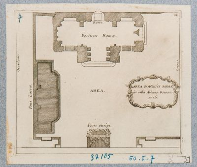 Villa Albani. Portico detto di Roma