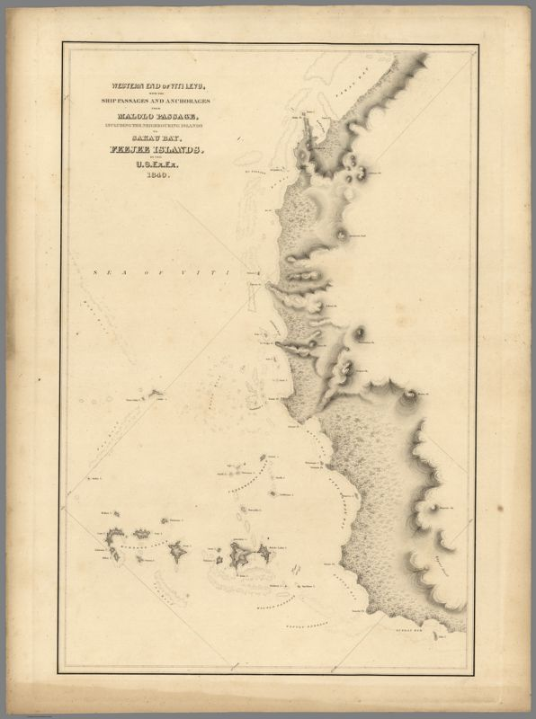(Hydrography Chart from the The United States Exploring Expedition, 1838-1842)