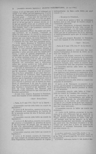Tome 44 : Du 22 mai au 8 juin 1792 - page 2