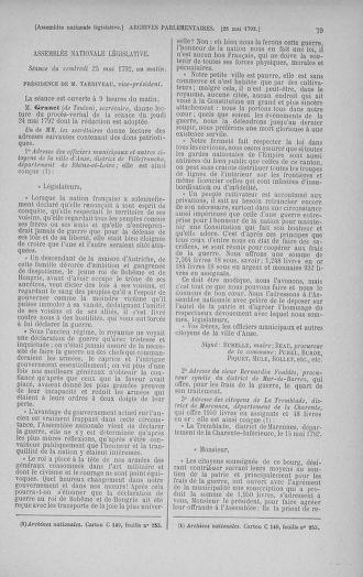 Tome 44 : Du 22 mai au 8 juin 1792 - page 79