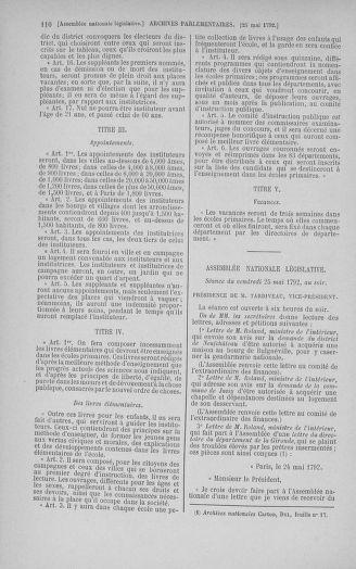 Tome 44 : Du 22 mai au 8 juin 1792 - page 110