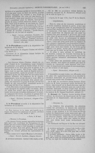 Tome 44 : Du 22 mai au 8 juin 1792 - page 125