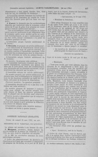 Tome 44 : Du 22 mai au 8 juin 1792 - page 137