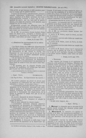 Tome 44 : Du 22 mai au 8 juin 1792 - page 138