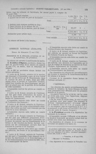 Tome 44 : Du 22 mai au 8 juin 1792 - page 155