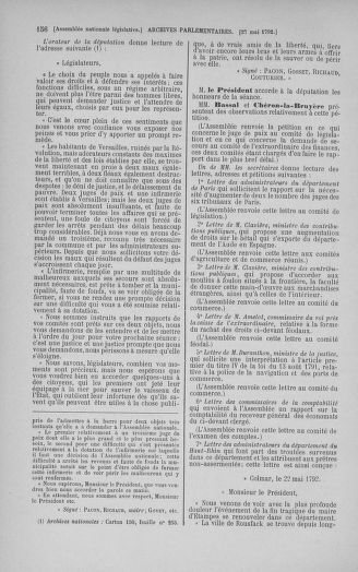 Tome 44 : Du 22 mai au 8 juin 1792 - page 156