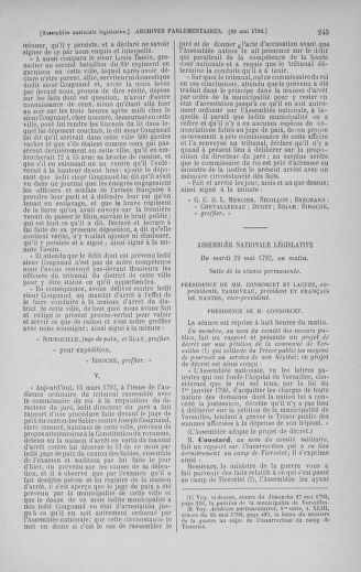 Tome 44 : Du 22 mai au 8 juin 1792 - page 245
